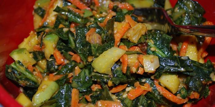 Raw Collard and Apple Salad